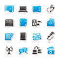 Communication and connection icons vector icon set Stock Images