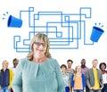 Communication connection telecommunication telephone transmit concept Royalty Free Stock Images