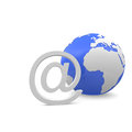 Communication globe and an email symbol Stock Image