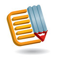 Communication icon, with document and pen Royalty Free Stock Photos