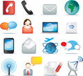Communication icon set Royalty Free Stock Image