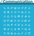 Communication icon set of the simple related icons Royalty Free Stock Images