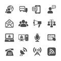 Communication icon set, vector eps10 Royalty Free Stock Photo