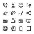Communication icon set, vector eps10 Royalty Free Stock Photo