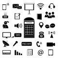 Communication icon vector on white background Royalty Free Stock Images