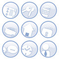 Communication icons Royalty Free Stock Photos