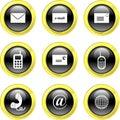 Communication icons Stock Image