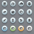 Communication icons on gray background. Set 3 Royalty Free Stock Image