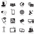 Communication icons illustration of and web for your design and products Royalty Free Stock Image