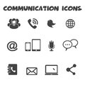 Communication icons mono vector symbols Royalty Free Stock Photography