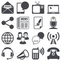 Communication icons set about concept Royalty Free Stock Images