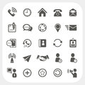 Communication icons set eps don t use transparency Royalty Free Stock Images