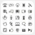 Communication icons set eps don t use transparency Royalty Free Stock Photos