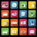 Communication icons Royalty Free Stock Photo