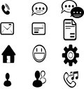 Communication icons silhouette of created in vector format Stock Photography