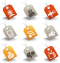 Communication icons vector set of Stock Image