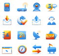 Communication icons vector set of Stock Images