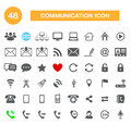 Communication icons for web vector internet set Stock Images