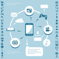 Communication infographic elements technologies design Royalty Free Stock Photo