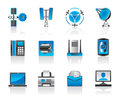 Communication and media icons Royalty Free Stock Photo