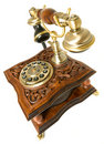 Communication Old-fashioned telephone isolated Stock Photos