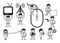 Communication Related Cartoon Graphics