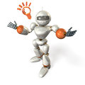 Communication of the robot opens its arms it is representing Royalty Free Stock Photo