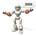 Communication by the robot opens its arms it is representing Royalty Free Stock Photos