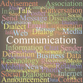Communication tag cloud color abstraction Royalty Free Stock Photo