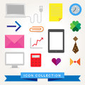 Communication technology devices web icons icon set Royalty Free Stock Image