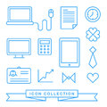 Communication technology devices web icons icon set Royalty Free Stock Images
