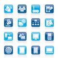 Communication and technology equipment icons vector icon set Stock Photos