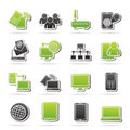Communication and technology equipment icons vector icon set Royalty Free Stock Photos