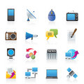 Communication and Technology icons Royalty Free Stock Photography