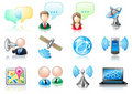 Communication theme icon set Royalty Free Stock Photo