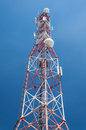 Communication tower antenna Stock Images