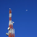 Communication tower wireless and network technology Stock Photo