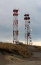 Communication towers Royalty Free Stock Photo