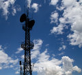 Communication transmitter against a sky background Stock Photos