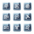 Communication web icons Stock Photo
