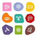 Communication web icons, colour spots series Royalty Free Stock Photo