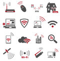Communication web icons isolated on white background eps Stock Image