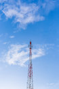 Communications antenna invades the sky Stock Images
