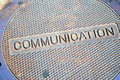 Communications Manhole Stock Image