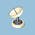 Communications satellite dish icon Royalty Free Stock Photo