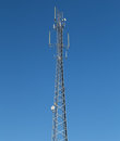 Communications tower with antennae this is a various Stock Photography