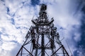 Communications tower a for tv and mobile phone signals Stock Photography