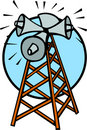 Communications tower vector illustration Stock Image