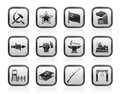 Communism, socialism and revolution icons Royalty Free Stock Photo