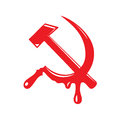 Communism symbol with blood drops Stock Image